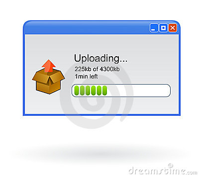 Uploading file browser window
