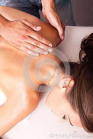 Upper back massage technique