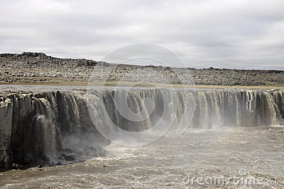 Upper Dettifoss waterfall, Iceland.