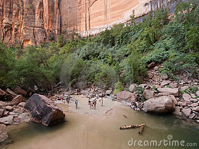 Upper Emerald Pool at Zion National Park Editorial Image
