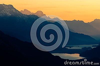 Upper Engadine With Lake St Moritz