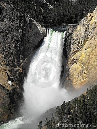 Upper Falls - Yellowstone Royalty Free Stock Image - Image: 10794816