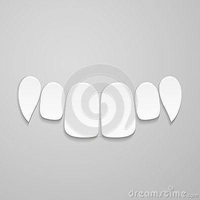 Upper front teeth