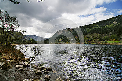 Upper lake in Glendalough Valley