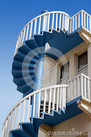 Upper section of spiral stairs