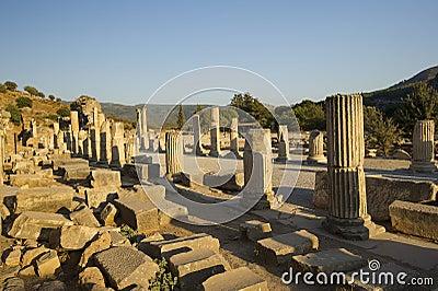 Upper Street ancient city of Ephesus.
