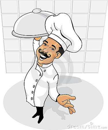 Upper view of a chef
