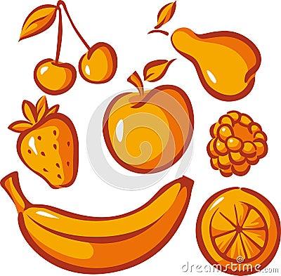 Uppsättning av frukt