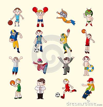 Fastställda sportspelaresymboler