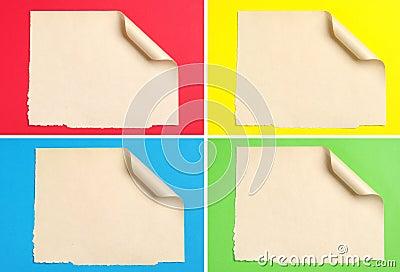 Uppsättningen av täcker pappers-