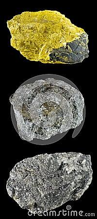 Uppsättningen av vaggar och mineraler â2