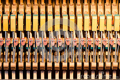 Upright piano dampers