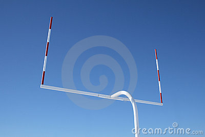 Uprights of football goal posts