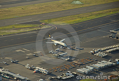 UPS Airliner Ready for Push Back Editorial Photography