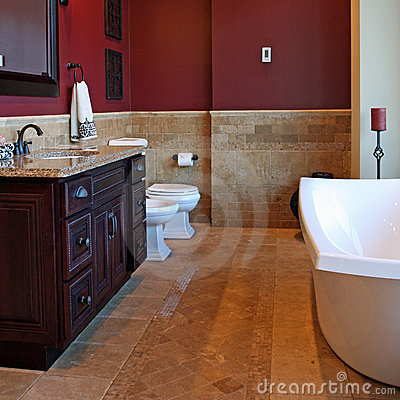Free Upscale Bathroom Royalty Free Stock Photography - 4130597