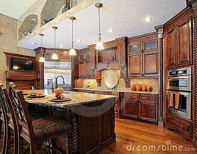 Upscale contemporary custom kitchen
