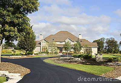 Upscale Home New Paved Driveway