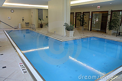 Upscale indoor swimming pool
