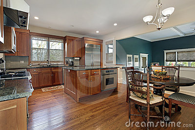 Upscale kitchen with island