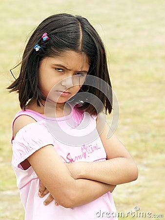 Upset and angry girl