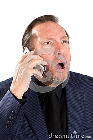 Upset Elderly Businessman