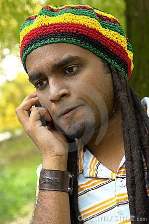 Upset Jamaican on the phone