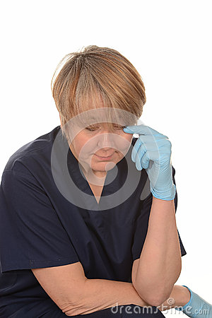 Upset nurse