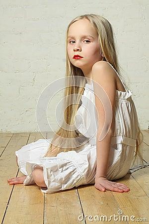 Upset, sad, bored - young child girl
