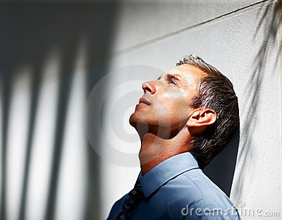 Upset Senior Business Man
