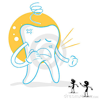 Upset teeth with germs