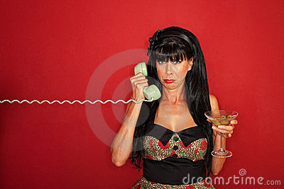 Upset Woman On Phone Call