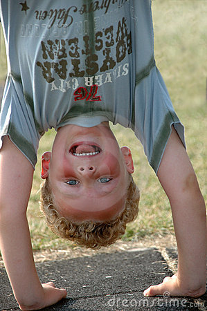 Free Upside Down Boy Royalty Free Stock Image - 6257846