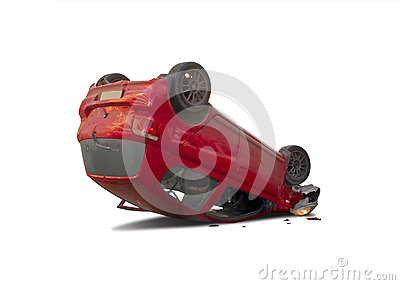 upside down car stock photo image 39473293. Black Bedroom Furniture Sets. Home Design Ideas
