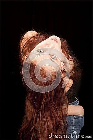 Upside down redhead