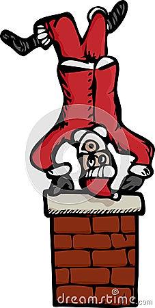 Upside-Down Santa