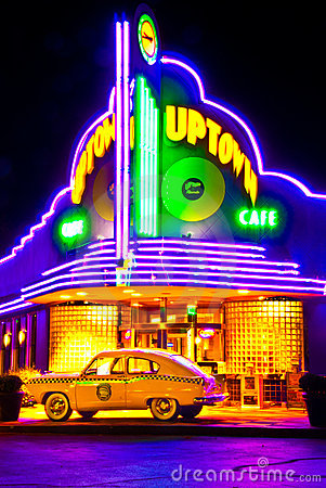 Uptown Cafe Ozark Attraction in Branson Mo Editorial Stock Photo