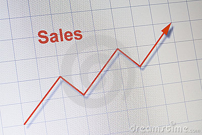 Upward sales chart