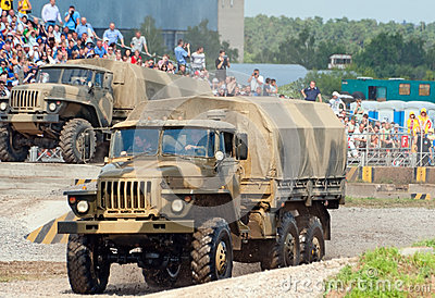 URAL-4320 family trucks Editorial Image