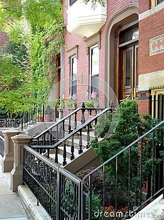 Urban American Neighborhood
