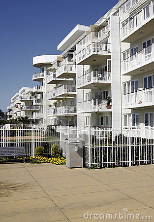 Free Urban Apartment Building Royalty Free Stock Photography - 1268077