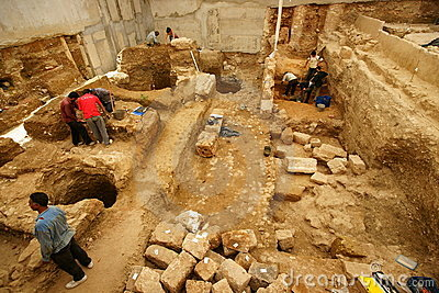 Urban Archaeology Editorial Stock Image