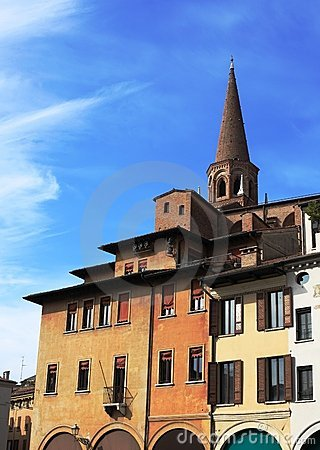 Urban architecture background, Mantua, Italy