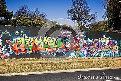 Urban Art - Graffiti Wall - Graffiti Friday Editorial Image