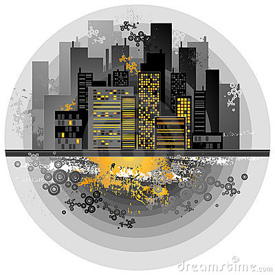 Urban background, vector