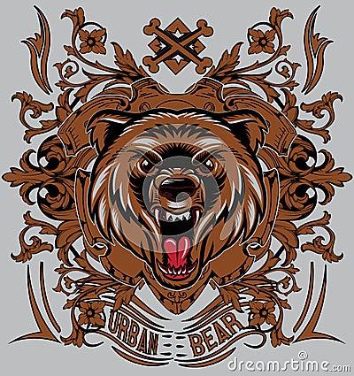 Urban bear Vector Illustration