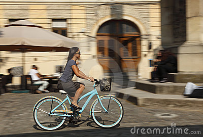 Urban bicycle ride