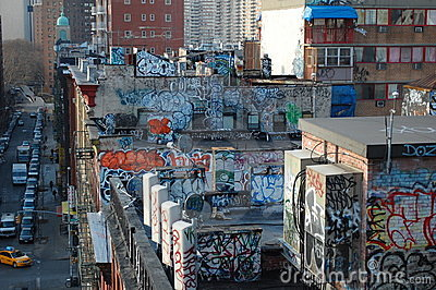 Urban Blight in New York City Editorial Stock Photo