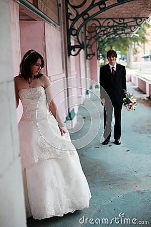 Urban Bride and Groom portrait
