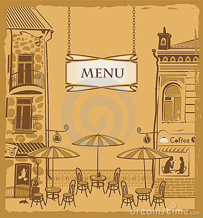 Free Urban Cafe Menu Stock Photography - 22661962