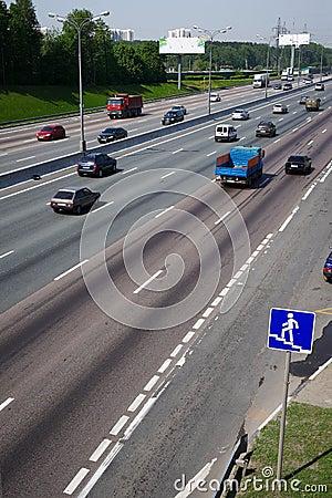 Urban car traffic